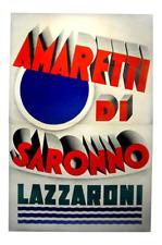 Original vintage Italian poster - Amaretti di Saronno - in two parts