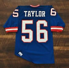 New York Giants Vintage Lawrence Taylor Sand-Knit NFL Football Jersey '80s