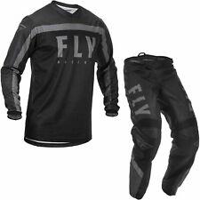"Fly Racing 2020 F-16 Motocross Jersey & Pants Black Grey Kit MX 32"" Medium"