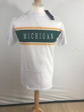 Mens T-Shirt Size Small Oversized Fit Michigan White BNWT
