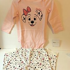 Disney Baby Girl Legging Outfit 18M 101 Dalmatians White 3 Piece Cotton New
