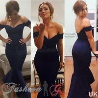 Womens Dress Midi Ball Gown Prom Party Formal Celeb Blue Evening Maxi Size 8 10