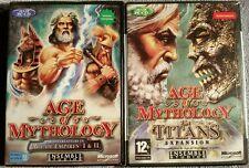 NIB French Language 2 Games, Age of Mythology & The Titans Expansion, PC 2002-3