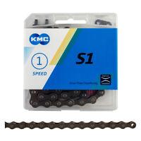 "KMC Z410 Bike Chain 1//2/""x1//8/"" 112L 8.6mm Brown Single-Speed BMX Cruiser Fixed"