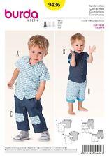 Burda Kids Schnittmuster - Hemd + Hose mit Rippenstrickbund - Nr.9436