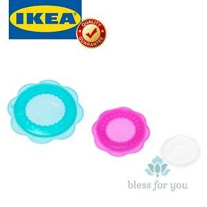 IKEA OVERMATT Food Cover Silicone Multicolor SET of 3