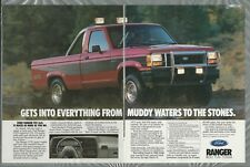 1989 FORD RANGER 2-page advertisement, Ford ad, Ranger Pickup Truck, STX 4x4