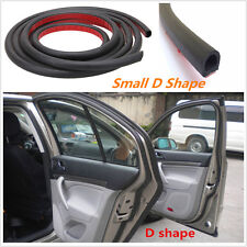 Weatherstrip Small D-shape Universal Car Door Rubber Seal 4M Hollow Strip Black
