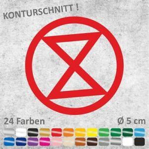 EXTINCTION REBELLION Autoaufkleber Sticker Aufkleber Ø 5 cm