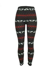 Reindeer Snowflake Red White Christmas One Size Leggings OS Soft FREE SHIPPING