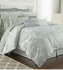 Charisma Sydney Jade Tonal Cotton Damask Weave Serene Queen Duvet Cover NWT