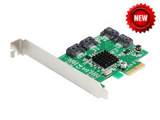 IOCrest PCI-Express 4 Port SATA III (6Gb/s) RAID Controller Card (Low Profile)