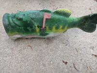 Fish Bass Mailbox with Steel Mailbox Plastic Blowmold