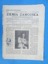 Ziemia Zamojska - Zamosc 20 Listopada 1928r.