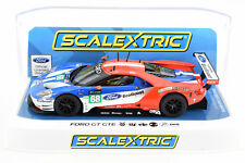 Scalextric Ford GT GTE - 2017 Le Mans DPR W/ Lights 1/32 Scale Slot Car C3857