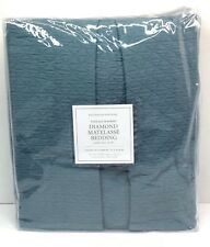 Restoration Hardware Vintage-Washed Diamond Matelasse Bed Skirt King Nocturne