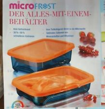 Tupperware Micro Frost Behälter 2x 800 ml und 1,3 Liter orange/blau