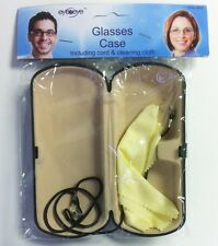 Glasses Case With Cord & Cleaning Cloth Sun Glasses Protector Box Eye TO Eye
