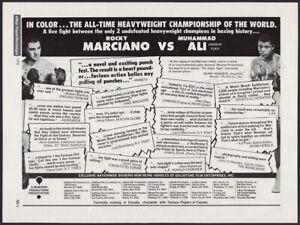 "MUHAMMAD ALI_vs_ROCKY MARCIANO__Original 1970 ""Super Fight"" print AD / ADVERT"