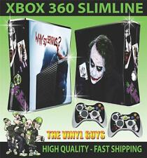 XBOX 360 SLIM WHY SO SERIOUS JOKER 001 STICKER SKIN COVER & 2 PAD SKINS