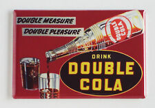 Double Cola FRIDGE MAGNET (2 x 3 inches) soda sign drink bottle label crate