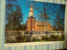 VINTAGE POST CARD AERIAL VIEW BRUTON PARISH CHURCH WILLIAMSBURG VA