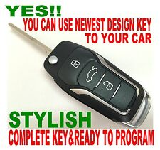 NEWEST GT STYLE FLIP REMOTE FOR 08-2011 FORD FIESTA ALARM CONTROL CHIP KEY 2D2EU