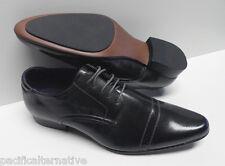 Chaussures gris foncé pour HOMME taille 42 costume de mariage NEUF #ELG-031