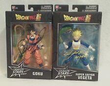 DragonBall Z Super Saiyan Vegeta & Goku Series 2 Signed by Sabat & Schemmel