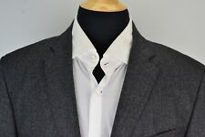 Polo Ralph Lauren Congressman Extrafine Wool Gray Microstriped Sport Coat 42L