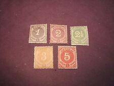 Netherlands Antilles Stamp Scott#  13-17 Numeral 1889 MH C277