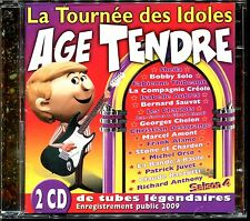 AGE TENDRE LA TOURNEE DES IDOLES VOL.4  EN PUPLIC 2009 - 2 CD COMPILATION [1821]