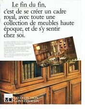 PUBLICITE ADVERTISING 027  1980  meubles MD bibliothèque  coll  Saint Germain