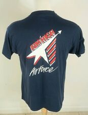 Vintage Air Force Fighter Jet Military Army T Shirt Screen Stars Xl 80s Usa