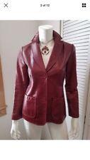 Vintage Gap - Soft Red Leather Jacket - Coat Women Size M / Medium