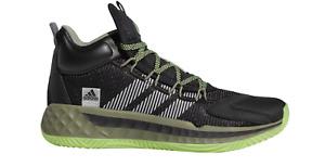 adidas Performance Herren Freizeit-Basketball-Schuhe PRO BOOST Mid schwarz grün