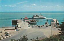 Traversier TRANS-ST-LAURENT au Quai de ST-SIMEON Quebec Canada Postcard
