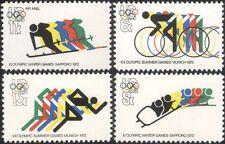 USA 1972 Olympic Games/Winter Olympics/Cycling/Skiing/Sports 4v set (n45013)