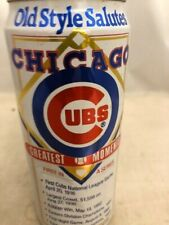 Old Style Chicago Cubs Greatest Moments empty collector beer can