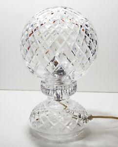 VINTAGE WATERFORD CRYSTAL ALANA HURRICANE BALL GLOBE LAMP ~ MADE IN IRELAND