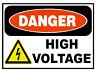 DANGER HIGH VOLTAGE OSHA DECAL STICKER 3M USA MADE TRUCK VEHICLE WINDOW WALL CAR