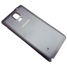 Original Samsung Galaxy Note 4 N910 trasera Tapa de la batería NEGRO CARCASA