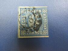 German Stamps (R9-14)A)1850 Baveria Bayern 6K blue imperf. Ng Nh Very Nice Stamp