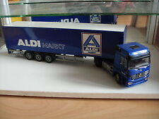 """Joal Mercedes Actros 1840 wqith trailer """"Aldi"""" in Blue on 1:50"""
