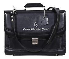 Esmalte Negro 5996 Mesenger Hombro Bolso de Laptop Oficina Maletín Cuero