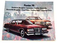 1976 Pontiac 16-page Sales Brochure - Catalina Bonneville Parisienne Laurentian