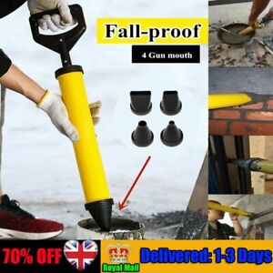 UK Mortar Gun for Brick Pointing Grouting Cement Lime Applicator Tool &4 Nozzles
