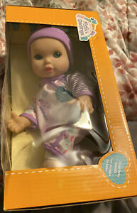 "Little Darlings Sweet Baby Cuddle me 11 "" Doll with three  Sounds"