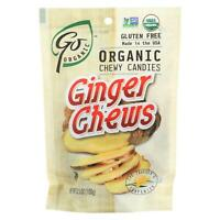 Go Organic Ginger Chews - 3.5 oz - Case of 6 - 95%+ Organic - Gluten Free