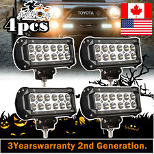 4x 7inch 36w CREE LED Work Light Bar Flood Offroad ATV 4WD Bumper SUV Truck Jeep